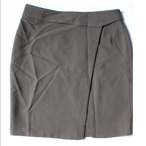 Very J Olive Colored Mini Skirt with Leg Slit